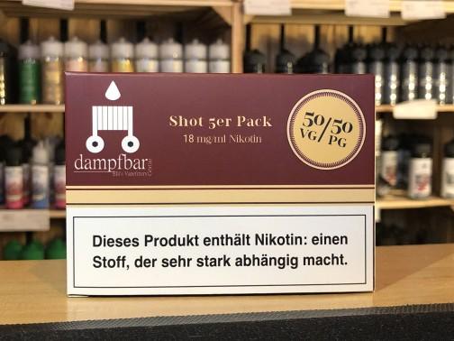dampfbar Görlitz PURESHOT 10ml 18mg 50/50 5er Pack